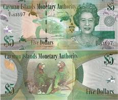 CAYMAN IS.        5 Dollars       P-39[b]       2014       UNC  [ Prefix: D/2 ] - Cayman Islands