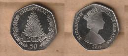 GIBRALTAR   50 Pence - Elizabeth II (Christmas) 2016  Copper-nickel • 8 G • ⌀ 27 Mm KM# 1491 - Gibraltar