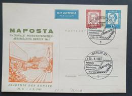 Berlin 1963, Sonder Postkarte NAPOSTA - Private Postcards - Used