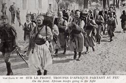 Section De Tirailleurs Algériens En Marche, état 1914 - War 1914-18