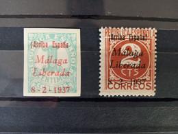 España 1937 Guerra Civil Málaga - Nationalistische Uitgaves