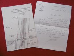 SAINT LAURENT D AIGOUZE PLAN PARTIE APARTENANT A Mr D ALBIS 1932 PORT VIEL Dim 25 X 17.5 Cm - Other Plans