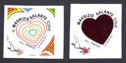 FRANCE 2011 - Autoadhésifs Yvert N° 510/511 NEUFS, Saint-Valentin, Coeurs Maurizio Galante - Autoadesivi