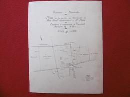 VAUVERT DOMAINE DE MONTCALM PLAN MAS NEUF PARTIE APARTENANT A Mr PONS 1933 Dim 28.5 X 23 Cm - Other Plans