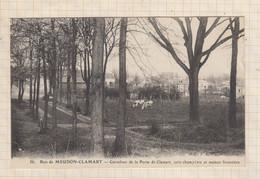 21B1090 BOIS MEUDON CLAMART CARREFOUR DE LA PORTE DE CLAMART COIN CHAMPETRE ET MAISON FORESTIERE - Clamart