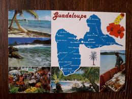 L34/1419 GUADELOUPE CARTE GEOGRAPHIQUE . MULTIVUES - Unclassified