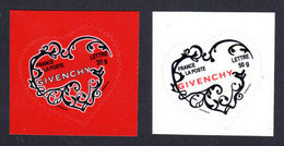 FRANCE 2007 - Autoadhésifs Yvert N° 102/103 NEUFS, Saint-Valentin, Coeurs Givenchy - Autoadesivi