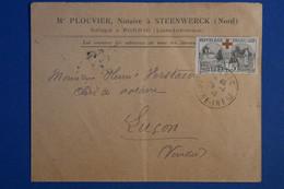 Q18 FRANCE BELLE LETTRE  1919 PORNIC A LUCON  VENDEE+N  156  + CACHETS PLAISANTS - Lettres & Documents