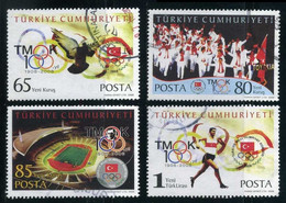 Turkey 2008 - Mi. 3667-70 O, National Olympic Commitee Of Turkey, Olympic Flag, Dove Of Peace, Athletes - Used Stamps