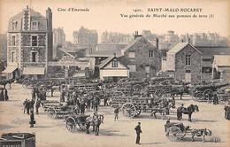 SAINT MALO - ROCABEY - Vue Générale Du Marché Aux Pommes De Terre - Très Bon état - Saint Malo