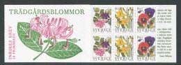 SUEDE 1997 - CARNET  YT C1978 - Facit H482 - Neuf ** MNH - Flore, Fleurs De Jardins - 1981-..