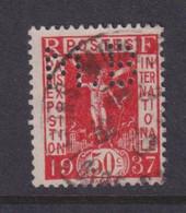 Perforé/perfin/lochung France 1936 No 325 M.B Sté Des Mines De Houille De Blanzy - Gezähnt (Perforiert/Gezähnt)