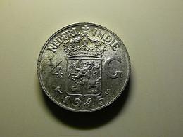 Netherlands East Indies 1/4 Gulden 1945 S Silver - Dutch East Indies