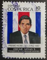 COSTA RICA 1987 Award Of Nobel Peace Prize To President Oscar Arias Sanchez. USADO - USED. - Algeria (1962-...)