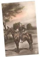 """Postcard Vintage Early 1900's Used """"Young Soldier On Horse"""" Germany? Maybe Italian. See Description AA - War 1914-18"""