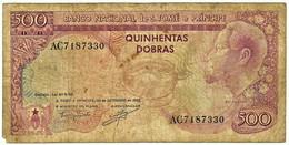 SAINT THOMAS & PRINCE - 500 DOBRAS - 30.09.1982 - Pick 58 - Rei Amador - Sao Tome And Principe
