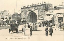 "CPA TUNISIE ""Tunis, La Porte De France"" - Tunisie"