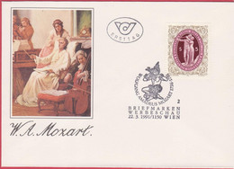 FDC 1991 - Mi 2022 (1) : 200. Todestag Von Wolfgang Amadeus Mozart , SST 1150 Wien - 1981-90 Covers
