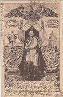200 Jahr Preussen (gelopen Kaart Met Zegel En Afstempeling Aachen 1901 En Chimay 1901) - Patrióticos
