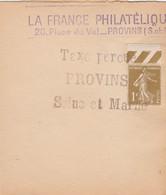 SEMEUSE 1C SUR BANDE DE JOURNAL LA FRANCE PHILATELIQUE PROVINS GRIFFE TAXE PERCUE - Lettere Tassate