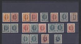"Houyoux / Lion Héraldique - Lot Typos Sur Une Plaquette ""Charleroy"" (1923 > 1930). A Examiner. - Typos 1922-31 (Houyoux)"