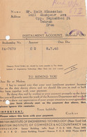 Palestine: 7.1945: Jerusalem Instalment Account Teheran - Palestine