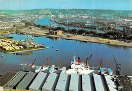 """Cpsm Bateau Cargo  """" Fort Ponchartrain """"  C.G.T Compagnie Générale Transatlantique Rouen Port - Cargos"""