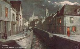 PEINTURE  Raphael Tuck  Oilette Amiens La Rue Basse Des Tanneurs - Pittura & Quadri
