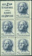 UNITED STATES OF AMERICA 1962 5c WASHINGTON BOOKLET PANE OF 5 PLUS LABEL** (MNH) - Unused Stamps