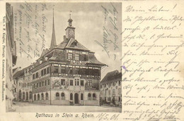 Rathaus In Stein A Rhein Pionnière RV Timbre Cachets - SH Schaffhausen