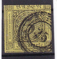# Z.13070 Germany, Baden, 1851 Stamp 3 Kr. Used, Michel 2b: Definitive, Digit In Circle - Baden