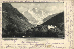 INTERLAKEN Blick Vom Hohenweg  Pionnière RV Timbre Cachet - BE Berne