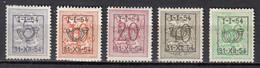 PRE640/644 Zonder Gom - Typo Precancels 1951-80 (Figure On Lion)