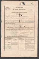 1885 ORDRE DE CONVOCATION / GRATIFICATION DE REFORME RENOUVELABLE INTENDANCE MILITAIRE AM COPPENS DENORLANDT Z21 - Documents