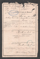 1871 ARMEE DU RHIN 3EME REGIMENT D'INFANTERIE DE LIGNE / CERTIFICAT BLESSURES Z21 - Documents