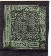 # Z.13077 Germany, Baden, 1853/54 Stamp 3 Kr. Used, Michel 6: Definitive, Digit In Circle - Baden