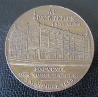 Médaille En Bronze Des Magasins Du Printemps - Souvenir Des Noces D'Argent 1890 - Portrait Du Fondateur - Professionals / Firms