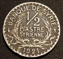 SYRIE - SYRIA - ½ - 1/2 PIASTRE 1921 - KM 68 - Siria