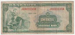 Allemagne - 20  Mark  1948  - N° J8803135K - 20 Mark