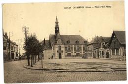 CPA 02 CHAVIGNON Place D'Hai-Phong Rare  1938 - Altri Comuni