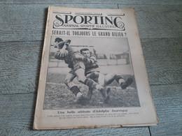 Sporting Journal Sportif Illustré 1925 Rugby Jaurréguy Football Boxe Au Cirque De Paris - Sport
