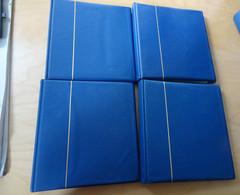 4 Kobra ETB Alben Blau Mit Ca. 160 Hüllen (17225) - Binders Only