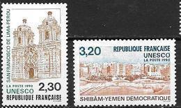 France 1990 Service N° 102/103 Neufs UNESCO 20% De La Cote - Mint/Hinged