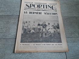 Sporting Journal Sportif Illustré 1925 Rugby Bordeaux Boxe Cyclisme Au Vel' D'hiv - Sport