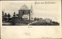 CPA Bystřice Pod Hostýnem Bistritz Am Hostein Region Zlin, Svatý Hostýn, Heiliger Hostein, Kirche - Tschechische Republik