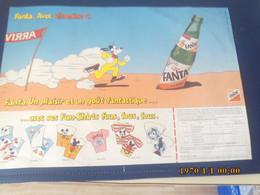SET TABLE PUBLICITAIRE FANTA  UN PLAISIR - Company Logo Napkins