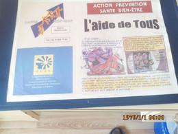 SET TABLE PUBLICITAIRE  PAPIER  AMITIE EDFGDF ACTION PREVENTION SANTE  CCAS - Company Logo Napkins