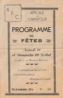 CHALONS Sur MARNE  Programme Des Fêtes - Amicale Du Carrefour - Programs
