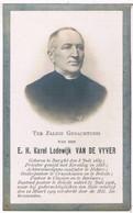 Dp. Pastoor Te Belcele. Van De Vyver Karel. ° Burght 1839 † Belcele 1909 - Religion & Esotericism