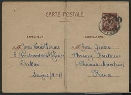 """IRIS 80ct Brun (N° A4i) COTE 45 € Obl. C.à.d """"DAKAR 16/10/41"""" - Cartoline Postali E Su Commissione Privata TSC (ante 1995)"""
